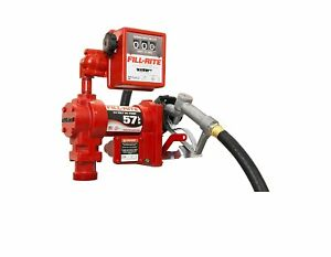 Fill rite 24 Volt Dc Fuel Pump Gas Diesel With Hose Manual Nozzle