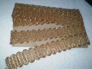 1 1 X138 Rare Old Lace For Edging Is A Metal Thread Decoration Gold Thread