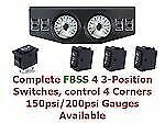 2 Dual Display 200psi Air Gauges Panel Four Switch Air Ride Suspension Xzx
