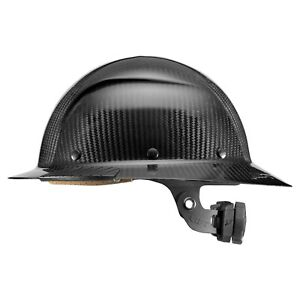 Lift Safety Hdc 15kg Dax Carbon Fiber Full Brim Hard Hat Black