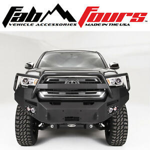Fab Fours Full Guard Premium Hd Front Winch Bumper For 2016 2019 Toyota Tacoma