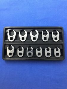 Sk Tools 11 Piece 3 8 Drive Metric Flare Nut Crowfoot Wrench Set 4511