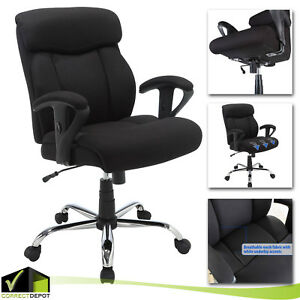 Big Tall Manager Black Office Chair Mesh Heavy Duty Computer Seat Back Rest