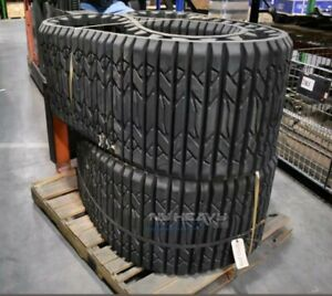 Two Factory Rubber Tracks Fits Cat 277c 18x4cx51 Caterpillar