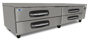 Norlake Nlcb96 Advantedge Commercial Four Drawer Refrigerated Chef Base
