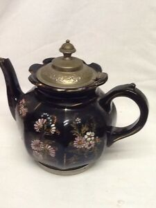 Antique Tea Pot Set H J Wood Alexandra Pottery Burslem England Manning Bowman