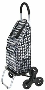 Trolley Dolly Stair Climber Houndstooth Grocery Foldable Cart Condo Apartment