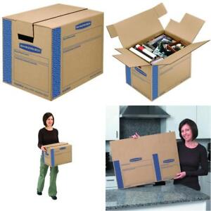 10 Pack Moving Boxes Tape free Fast fold Assembly Small 16 X 12 X 12 Inches