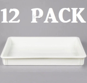 12 Pack 18 X 26 X 3 Dough Proofing Box Commercial Baking Proof Pan Tray