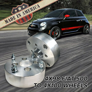 X2 Usa Made 4x98 To 4x100 Fits 4 Lug Fiat 500 Wheel Adapters 2 Spacers