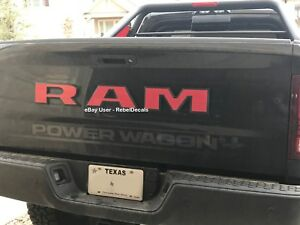 Fits Dodge Ram 2500 Power Wagon Rear Tailgate Emblem Overlay Decals 17 18