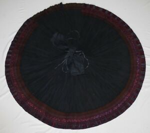 Tribal Chinese Ethnic Miao People Old Hand Embroidery Local Cloth Pleated Skirt