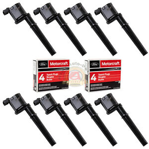 8pcs Ignition Coils Dg512 Motorcraft Spark Plugs Sp493 Ford Lincoln Mercury