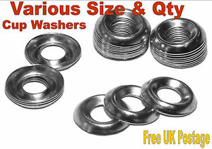A2 Stainless Steel Cup Washers No6 No8 No10 No12 Choose Size Quantity
