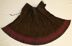 Chinese Ethnic Miao People S Old Hand Embroidery Local Cloth Pleated Skirt