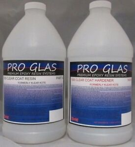 Pro Glas 1000 Epoxy Table Top Clear Resin 2 Gallon Kit
