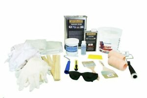 Fiberglass Repair Kit 1 Gallon Resin 8 Yards Fiberglass Acetone Supplies