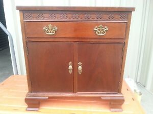 Vintage Chippendale Style Night Stand By Baker Furniture Co
