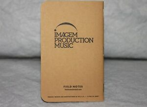 Field Notes Imagem Production Music Edition Notebook