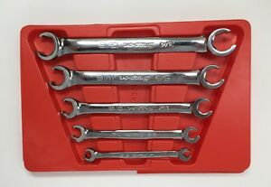 Snap On Rxfs605b 5 Pc 6 Point Double End Sae Flare Nut Wrench Set 1 413 16