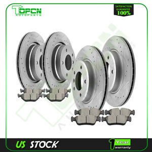 Front And Rear Brake Rotors Ceramic Pads Kit For 2001 02 03 04 05 Bmw 325i 325ci