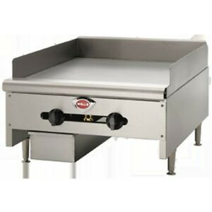 Griddle Flat Top Grill Manual Gas Heavy Duty 36 Wells Hdg3630g