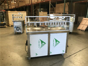 Commercial Nsf Two Pan Ice Cream Roll Machine Fi91