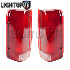Left Right Pair Rear Brake Tail Lights For 1990 1996 Ford F150 F250 F350 Bronco