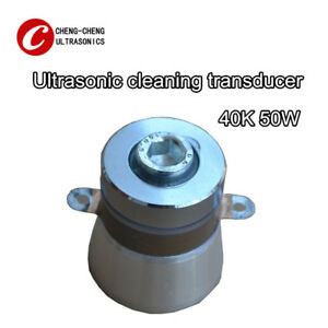 1pc 50w 40khz Ultrasonic Piezoelectric Cleaning Transducer