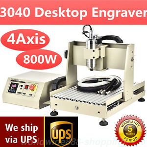 4axis 3040 Cnc Router Engraver 800w Vfd Metal Wood Engraving Mill Drill Machine
