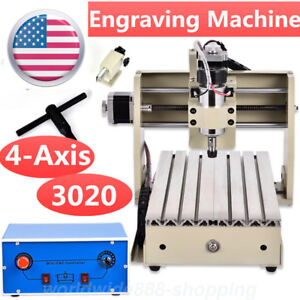 4 Axis Cnc Router 3020 Engraver Pvc Engraving Milling Drilling Carving Machine