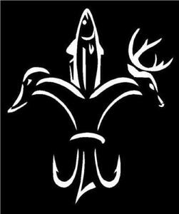 Decal Duck Fish Deer Hunting Fishing Vinyl Decal For Car Truck Window