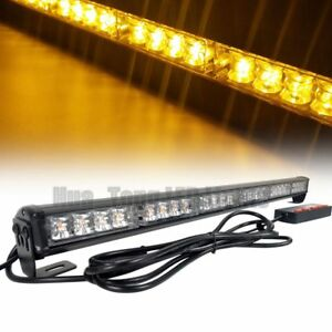 26 24w Led Warn Traffic Advisor Directional Flash Amber Strobe Light Bar Yellow