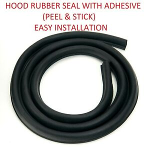 63 82 Corvette Hood To Cowl Weatherstrip Ledge Seal Rubber With Adhesive Tape T