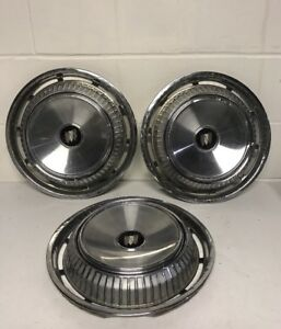 Vintage Buick Hubcaps Mid 1950 S 1960 S Era 15 Wheel Covers Used Set Of 3