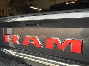 Fits Dodge Ram 2500 Limited Rear Tailgate Emblem Overlay Decals 2016 2017 2018