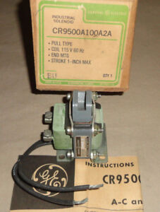 General Electric Cr9500a100a2a Pull Type Ac Solenoid 1 Stroke 115 Vac New