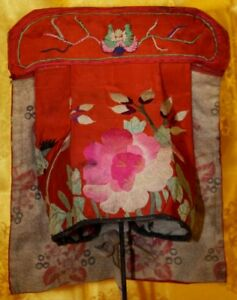 Old Chinese Hand Embroidery Silk Hat