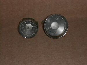 Vintage Vdo Speedometer And Clock Barn Find For Parts Or Repair