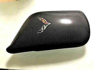 Chevy Corvette 2014 19 Armrest Center Console Cover Black Carbon Fiber Logo