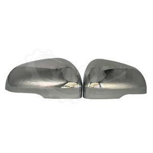 New Pair 2 Chrome Side View Mirror Covers Set For Jaguar Xfr Xkr Left Right