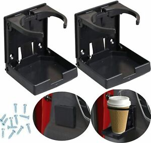 2 X Universal Adjustable Folding Cup Drink Holder Car Truck Boat Van Plastic