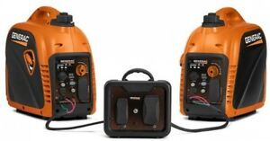 Portable Inverter Generator 2 Pack With Parallel Power Kit Off Grid Power New