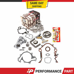 Timing Chain Kit Water Oil Pump Cover Gasket For 97 03 Ford E150 E250 F150 4 2