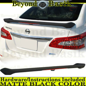 For 2013 2014 2015 2016 2017 2018 Nissan Sentra Matte Black Spoiler Wing W Led