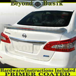 For 2013 2018 Nissan Sentra Factory Jdm Style Spoiler Wing W Led Primer
