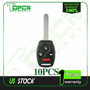 10 Replacement Remote Keyless Entry Key Fob Uncut For 2004 2007 Honda Accord
