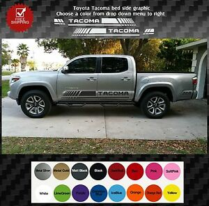 Toyota Tacoma Truck Bed Side Decals Graphics Decals 2016