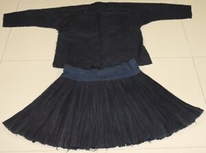 Vintage Tribal Exotic Chinese Minority People S Old Hand Local Cloth Robe Skirt