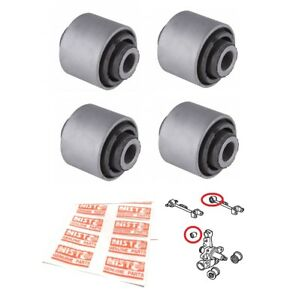4 Suspension Rear Upper Control Arm Knuckle Bushing For 2001 2005 Honda Civic